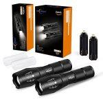 2 PACK Lampe de poche tactique LED 5 modes, Lumen élevé, Zoomable, Résistant à l'eau, Lumière de poche - Idéal pour le camping, la randonnée, la marche de chien de la marque image 6 produit
