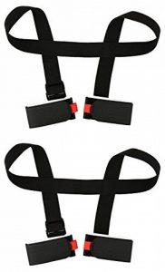 2 Pièces porte skis Porte-Épaules Réglable Bandoulière de Ski pour Transport de Skis de la marque HOGAR AMO image 0 produit