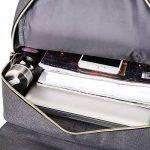 # 207 épaule double 17 pouces sac à dos 11,12,13 pouces ordinateur portable avec nylon imperméable Gris de la marque image 4 produit