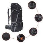 70L Trekking Sac avec housse de pluie pour l'escalade,le camping,la randonnée pédestre, Voyage et Alpinisme de la marque image 6 produit