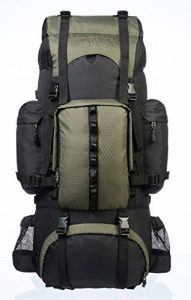 AmazonBasics Sac à dos de randonnée à armature intérieure avec housse de pluie de la marque AmazonBasics image 0 produit