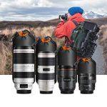 Apeman Lens Case Camera Lens Pouch épais de protection à l'intérieur avec Bleu doux en peluche en néoprène Sacs pour DSLR (Canon, Nikon, Pentax, Sony, etc, 4-pack) de la marque apeman image 4 produit