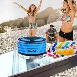 BassPal Radios de Douche, Haut-Parleur Bluetooth IPX7 portable entièrement étanche à l'eau avec, super basse et son HD, Haut-Parleur parfait pour plage, piscine, cuisine et maison de la marque BassPal image 4 produit