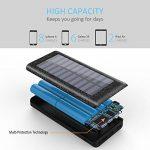 Batterie Externe 24000, Chargeur Solaire Portable Power Bank Quick Charge avec 3 Ports Usb 2 LED Lumière pour iPhone, Samsung, HUAWEI, iPad,Smartphone,Tablette-NOIR de la marque image 1 produit
