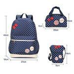 Bcony Lot de 3 mignon Dot sacs à dos Cartables scolaire pour filles enfant + Sac à main + mini sac bandoulière de la marque Bcony image 1 produit