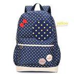 Bcony Lot de 3 mignon Dot sacs à dos Cartables scolaire pour filles enfant + Sac à main + mini sac bandoulière de la marque Bcony image 3 produit