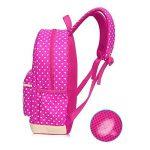 Bcony Lot de 3 mignon Dot sacs à dos Cartables scolaire pour filles enfant + Sac à main + mini sac bandoulière de la marque image 4 produit