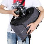Beschoi Sac pour Appareil Photo, Sac à dos Photo Grande Capacité Imperméable avec Housse Etanche Inclus pour DSLR Caméra Canon Nikon Sony de la marque Beschoi image 5 produit