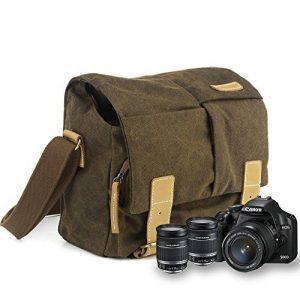 BESTEK Sac bandoulière pour appareil photo numérique en canevas avec étui amovible- Kaki de la marque BESTEK image 0 produit