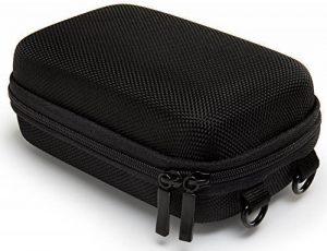Bundlestar PURE BLACK étui rigide pour appareil photo taille L (couleur noir) (avec bandoulière et boucle de ceinture) Pour Sony Cybershot HX50 HX60 HX80 HX90 - Nikon CoolPix W100 A900 S9900 - Panasonic Lumix DMC TZ70 - Canon PowerShot SX710 SX720 de la m image 0 produit