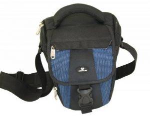 Case4Life Noir / Bleu Zoom Nylon SLR Reflex photo numérique étui sac pour Canon EOS inc 1300D, 1200D, 100D, 1100D, 80D, 700D, 750D, 760D, 70D, 600D, 500D, 5D, 5DS, 400D, 6D, 650D, 1000D, M3, M5 de la marque Case4Life image 2 produit