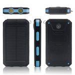 Chargeur solaire 10000mAh, double port USB Banque d'énergie solaire avec 2Led Light Compas intégré Chargeur portable pour téléphone portable pour camping Voyage Randonnée et autres activités de plein air(Bleu) de la marque image 5 produit