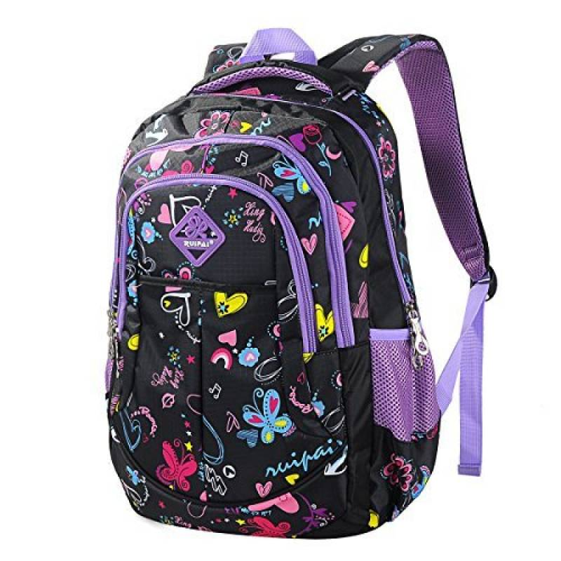 Coofit Cartable fille Sac a dos fille primaire Cartable enfant fille  Cartble Sacs à dos college en Oxford Sac ecole fille Sac a dos primaire  scolaire ... 83961a911271