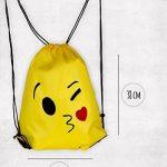 Cordon Emoji sac à dos sac pour les enfants et les adolescents - Garçons et filles, sac de sport / Party Favors, Set de 6 de la marque image 2 produit