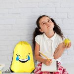 Cordon Emoji sac à dos sac pour les enfants et les adolescents - Garçons et filles, sac de sport / Party Favors, Set de 6 de la marque image 3 produit