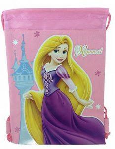 Disney Raiponce Princesse 25,4x 35,6cm Cordon de serrage Sac à dos en nylon très résistant Sac fourre-tout Couleur (Bleu, Jaune) (Bleu) de la marque Disney image 0 produit
