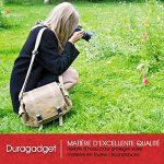 """DURAGADGET Sacoche en toile """"vintage"""" pour appareil photo Canon 7D Mark II et EOS 1200D, 700D, SX400 IS, 100D, 750D et 6D avec compartiments ajustables - couleur beige, par DURAGADGET de la marque Duragadget image 5 produit"""