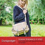 """DURAGADGET Sacoche en toile """"vintage"""" pour appareil photo Canon 7D Mark II et EOS 1200D, 700D, SX400 IS, 100D, 750D et 6D avec compartiments ajustables - couleur beige, par DURAGADGET de la marque Duragadget image 6 produit"""