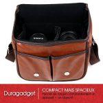 DURAGADGET Sacoche modulable pour Canon EOS 650D, 700D, 1100D, 1200D, 1300D appareil photo SLR – aspect cuir marron de la marque Duragadget image 4 produit