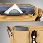 ESDDI Camear Sac Bandoulière Vintage en Toile Canva Messager Insert Rembourré Amovible pour Appareil Photo Numérique Reflex DSLR -Khaki de la marque ESDDI image 4 produit