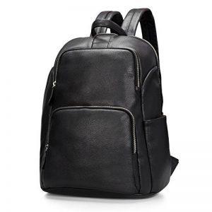 Estarer Sac à dos Cuir Femme Noir Sac porté dos à Main Anti-rayure Sac Scolaire Fille Backpack pour Losirs Ecole et Travail de la marque Estarer image 0 produit