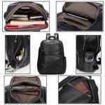 Estarer Sac à dos Cuir Femme Noir Sac porté dos à Main Anti-rayure Sac Scolaire Fille Backpack pour Losirs Ecole et Travail de la marque Estarer image 5 produit