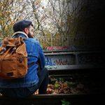 EXUPERY® Sac à Dos en toile et bandoulière Cuir - Homme/Femme, Unisexe, Sac de loisir, école, voyage et randonnée de la marque EXUPERY image 4 produit