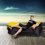 Fauteuil gonflable, AUKUYEE Canapé d'Air Hamac Chaise gonflable flottant pour piscine avec sac de transport et toit amovible pour le voyage, le camping, la randonnée, les fêtes de piscine et de plage de la marque image 1 produit