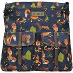 Freddie Fox et écureuil Imprimé Selle Style Fermeture Éclair Sac à bandoulière de la marque image 1 produit