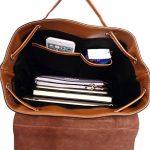 Grand Sac a Dos Cuir Femme Cordon à Porté Épaule College pour Adulte Ados Fille Ecole de Voyage Backpack de la marque image 4 produit
