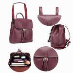 Grand Sac a Dos Cuir Femme Cordon à Porté Épaule College pour Adulte Ados Fille Ecole de Voyage Backpack de la marque image 5 produit