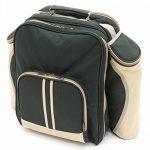 Greenfield Collection - Sac à dos de pique-nique Super Deluxe pour 4 personnes avec plaid assorti - Vert Forêt de la marque image 2 produit