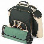 Greenfield Collection - Sac à dos de pique-nique Super Deluxe pour 4 personnes avec plaid assorti - Vert Forêt de la marque Greenfield Collection image 1 produit