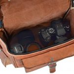 Gusti Cuir nature sac d'appareil photo en cuir sac caméra en cuir de chèvre véritable sac à bandoulière en cuir sac de transport cuir marron M102b de la marque Gusti image 2 produit