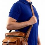 Gusti Cuir nature sac d'appareil photo en cuir sac caméra en cuir de chèvre véritable sac à bandoulière en cuir sac de transport cuir marron M102b de la marque Gusti image 1 produit