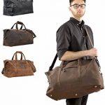 """Gusti Cuir studio"""" Ruben"""" sac de voyage bagage cabine sac de sport sac à bandoulière sac avec anses cuir naturel cuir de vachette sac en cuir besace cabas en cuir unisexe 2R1-20-4wp de la marque Gusti image 1 produit"""