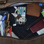 """Gusti Cuir studio"""" Ruben"""" sac de voyage bagage cabine sac de sport sac à bandoulière sac avec anses cuir naturel cuir de vachette sac en cuir besace cabas en cuir unisexe 2R1-20-4wp de la marque Gusti image 2 produit"""