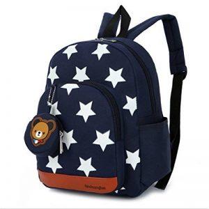 Gwell Sac à Dos Enfant Sac Maternelle Fille Garçons Motif étoile avec Pendentif Ours de la marque Gwell image 0 produit
