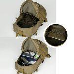 Hisea Outdoor Military Sacs à dos en nylon Sac à dos imperméable Tactical Assault Pack Sac de voyage sportif 15L/25L avec motifs ergonomiques pour le camping Chasse Trekking Voyage de la marque image 5 produit
