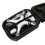 HMF 18608-02 Sac à dos phantom 3, Sac de transport compatible pour les drones standard, professionnels, avancés DJI 2 et 3, 47,5 x 33 x 23 cm de la marque HMF image 4 produit