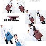 HongyuTing Vintage Canvas Sac à bandoulière Femme Sac à dos Retro Daypack Sac multifonctionnel pour le travail, l'école et le décontracté quotidien de la marque HongyuTing image 5 produit