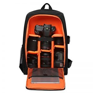 Huntvp Sac à Dos pour Appareil Photo Sac Caméra Etanche Sac à Rangement DSLR Housse en nylon Réflex Numériques Canon Nikon Sony Olympus Pentax de la marque Huntvp image 0 produit