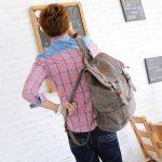iDream - 2014 nouveau sac à dos sac en toile d'épaule pour école hiking camping randonnée voyage etc. - 32cm * 18cm * 43cm - pour ordinateur jusqu'à 14'' de la marque iDream image 1 produit
