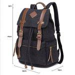 iDream - 2014 nouveau sac à dos sac en toile d'épaule pour école hiking camping randonnée voyage etc. - 32cm * 18cm * 43cm - pour ordinateur jusqu'à 14'' de la marque iDream image 2 produit