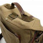 iDream – Professionnel 2 en 1 sac à dos & Sac bandoulière canvas étanche pour appareil photo reflex DSLR SLR Canon Nikon Pentax pour ordinateur Apple Lenovo Asus – café de la marque iDream image 6 produit