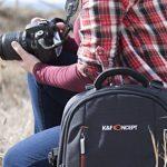 K&F Concept KF13.025 Sac pour appareil photo,Sac photo,sac dos photo,sac photo etanche, sac appareil photo reflex,sac photo reflex / Ordinateur / Trépied Noir avec Housse Imperméable Inclus pour DSLR Canon Nikon Sony Olympus de la marque K&F CONCEPT image 4 produit
