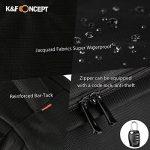 K&F Concept KF13.037 Sac photo, Sac appareil photo pour DSLR Canon Nikon Sony Olympus Noir de la marque K&F CONCEPT image 6 produit