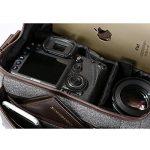 k&F Concept KF13.078 Sacoche et sac bandoulière pour appareil photo professionnel compact et bridge base étanche avec compartiment intérieur ajustable de la marque image 2 produit
