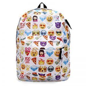 KING DO WAY Sac À Dos Loisir Cartable Scolaire College Voyage Pour Enfant Femme Homme Backpack Blanc 32cmX13cmX42cm de la marque image 0 produit