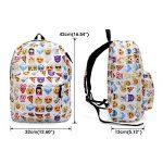 KING DO WAY Sac À Dos Loisir Cartable Scolaire College Voyage Pour Enfant Femme Homme Backpack Blanc 32cmX13cmX42cm de la marque image 5 produit